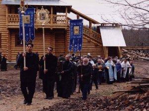 Крестный ход в Творожковском монастыре