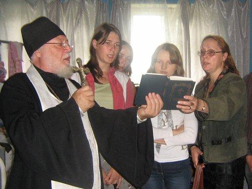 Молебен о здравии в больнице в Карамышеве