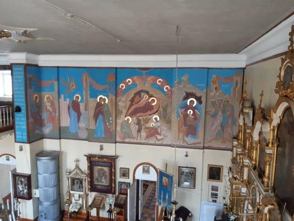 Восстановление настенной росписи в Любятовском храме